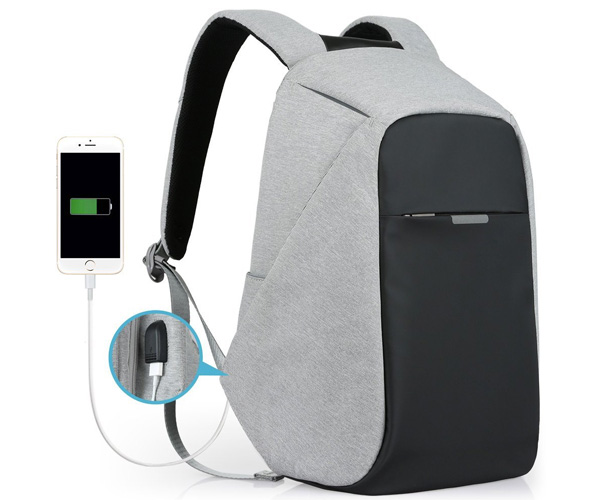 Oscaurt Backpack with USB Charging Port