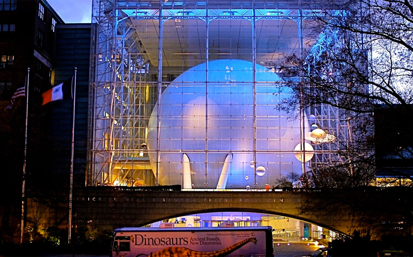 The Hayden Planetarium in NYC