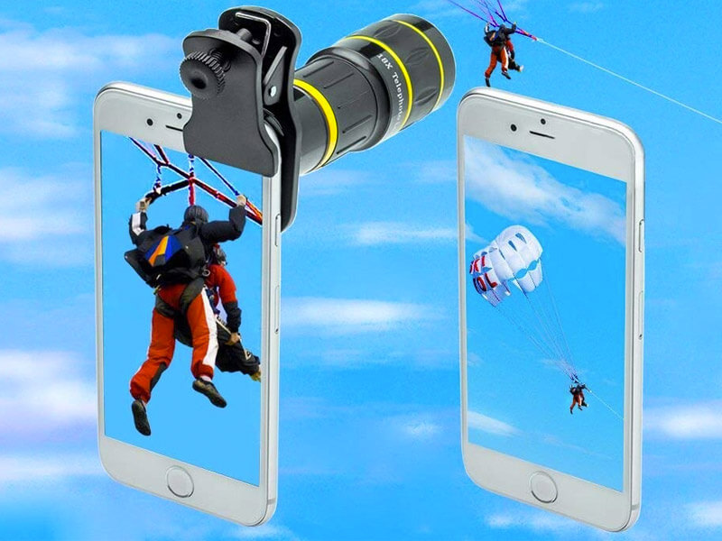 Godefa Cell Phone Camera Lens with Tripod