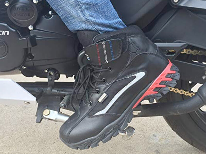 Motercycle Leather Boots