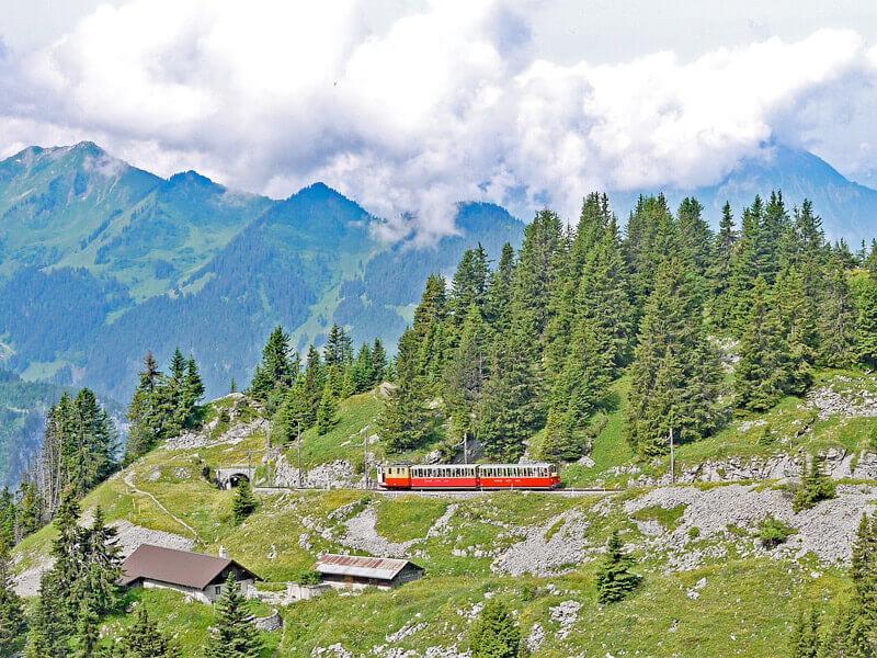 Europe's Highest Railway Station in Interlaken, Switzerland