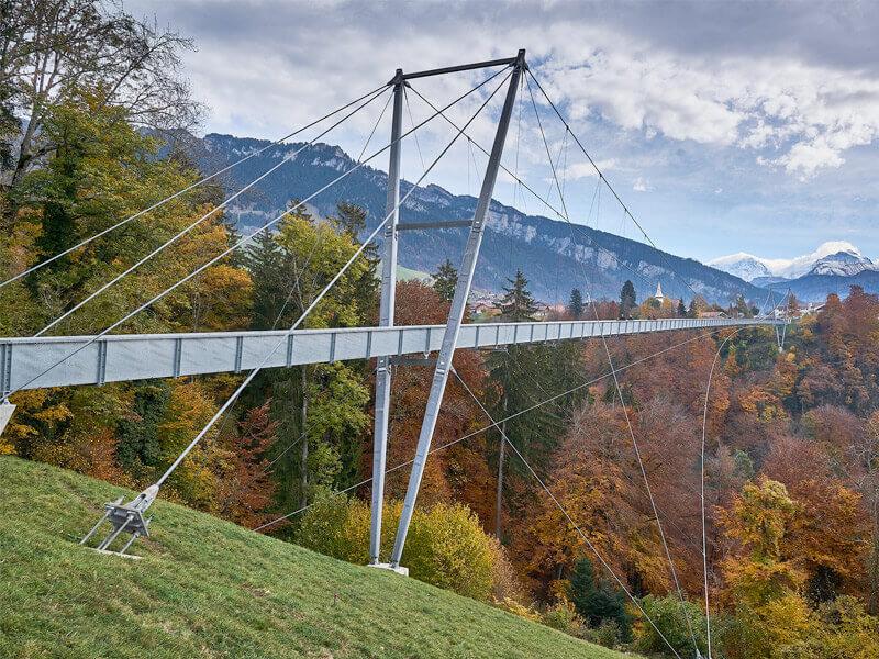 Ravishing Panoramabrucke Sigriswil in Interlaken, Switzerland