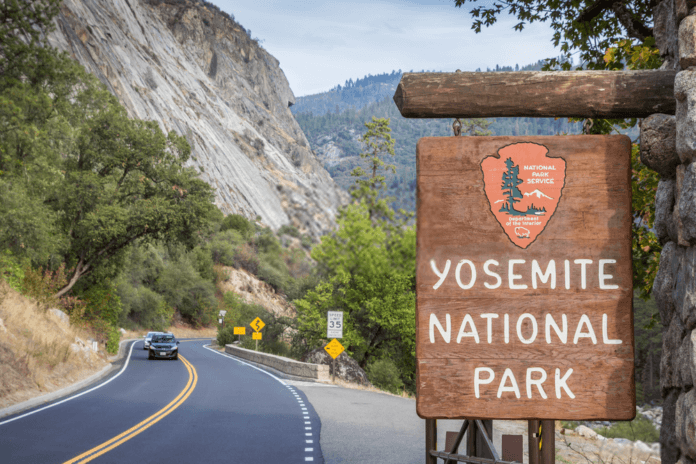 Yosemite National Park Sign