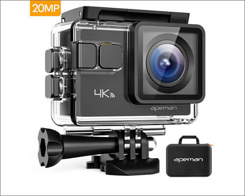 APEMAN A80 Action Camera 4K WiFi 20MP Waterproof
