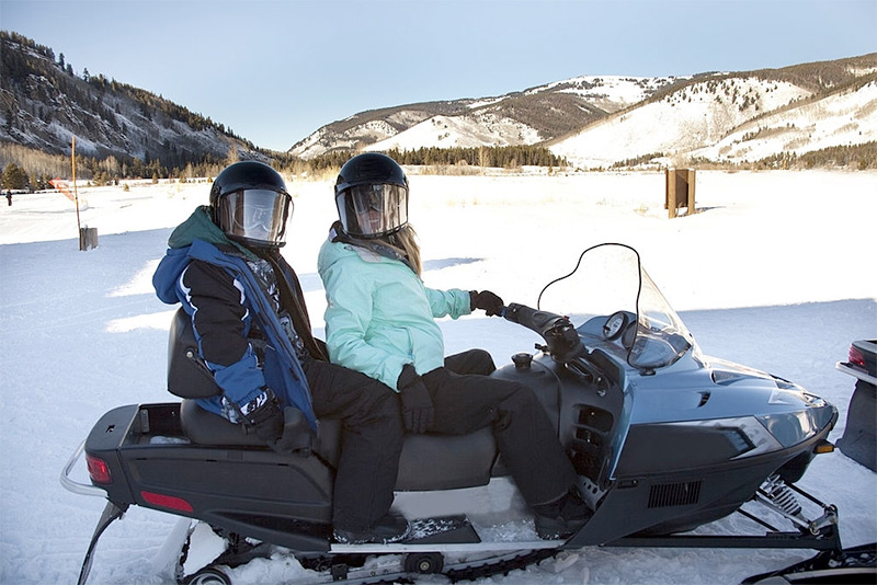Snowmobiling in Vail Colorado