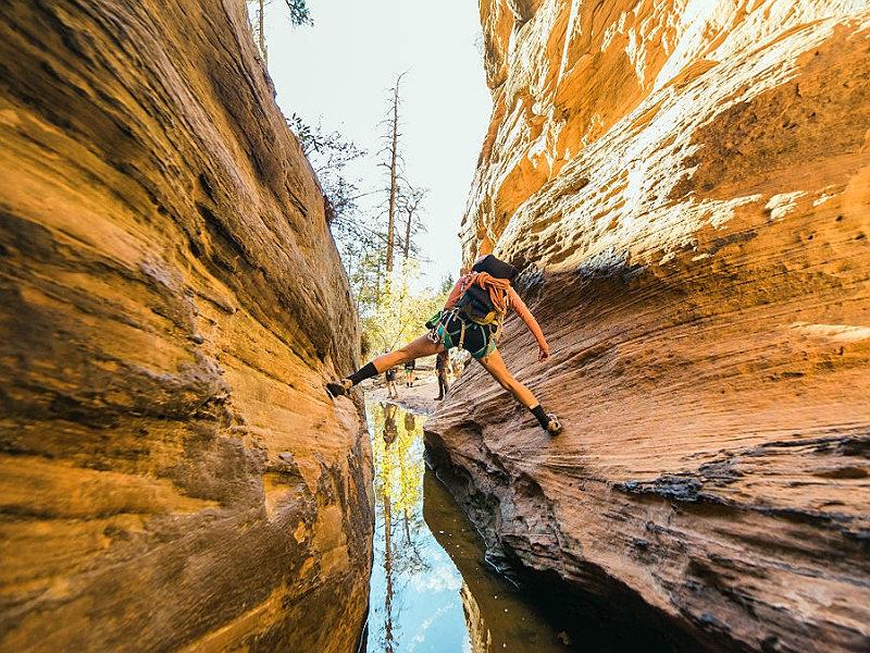 Canyoneering in Zion National Park, Utah, USA