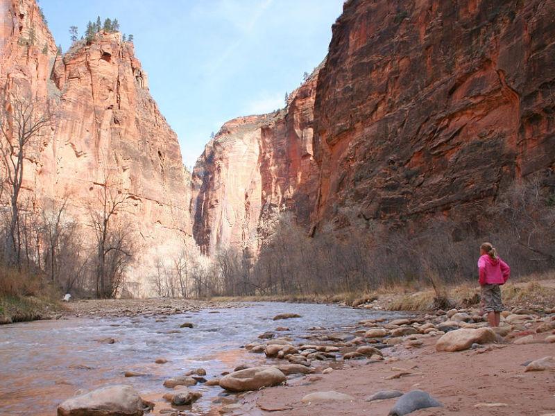 Riverside Walk at Zion National Park, Utah