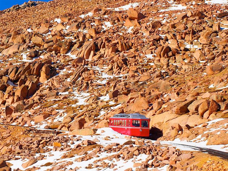 Pikes Peak Cog Railway in Colorado
