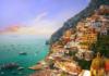A beautiful view of seaside city, Amalfi Coast, Italy