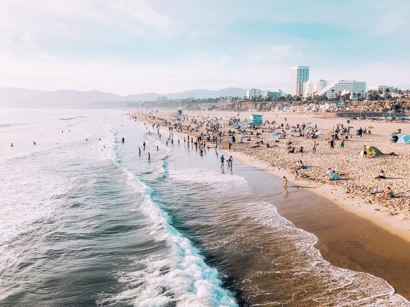 Santa Monica Pier Beach, Los Angeles