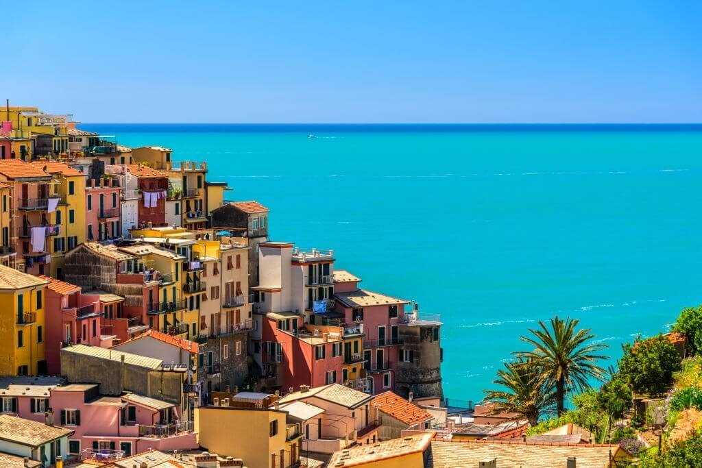The colourful buildings in Cinque Terre, Italy