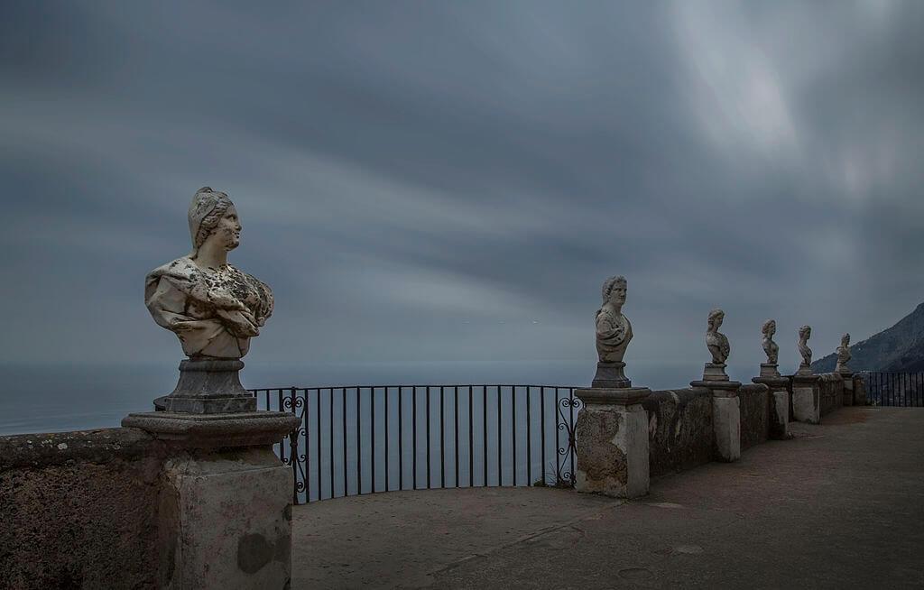 infinity terrace, ravallo at amalfi coast