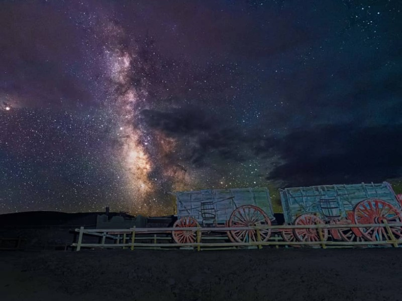 Night Sky at Borax Mill at Death Valley