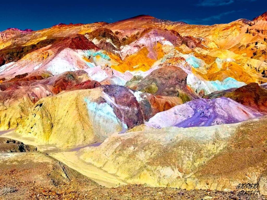 Colorful Artist's Palette in Death Valley, California