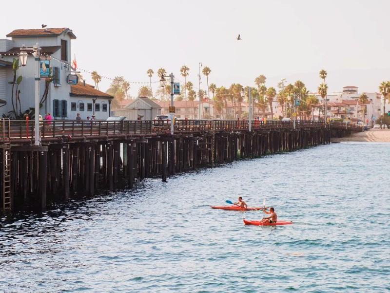 Kayaking in the Santa Barbara Harbor