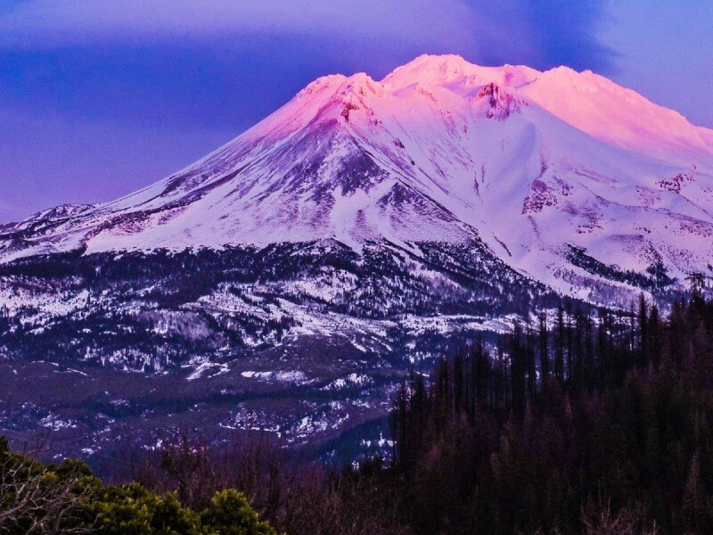 Awesome View of Mt Shasta, California