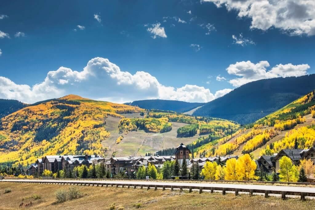 A beautiful landscape of Vail, Colorado