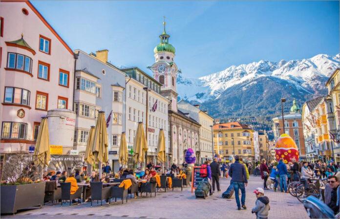 Innsbruck in the Austrian Alps
